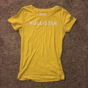 yellow hollister tee